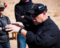 David Brown teaching concealed carry for Triad Defense